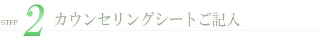 2.カウンセリングシートご記入